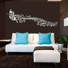 Butterfly Music Wall Decal Inspired Vinyl Kids Girl Bedroom Removable Art Decor