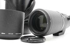 [Near MINT] Nikon AF Micro Nikkor 200mm f/4D ED IF Macro Lens w/ Hood Case Japan