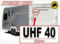 PERSONALIZED UHF RADIO CHANNEL NUMBER STICKER DECAL TO SUIT CARAVAN UTE 4X4 BOAT