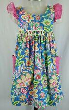 Bonnie Jean Girls Blue Floral Sleeveless Summer Dress Size 6X