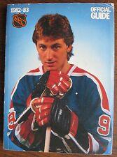 1982-1983 National Hockey League Official NHL Guide WAYNE GRETZKY