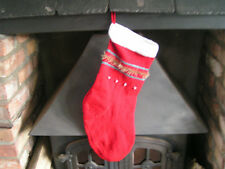 Easy to knit pattern for Christmas Stocking in double knit