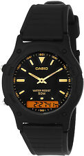 Casio Classic Black Analog Digital 50m Water Resistant AW-49HE-1AV Watch New