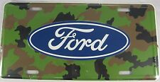 FORD CAMOUFLAGE METAL LICENSE PLATE SIGN CAMO L502