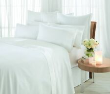 White 100%25 Pure Egyptian Cotton 400 Thread Count Flat Sheet Super King Bed Size