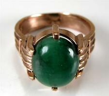 Victorian style 6.62CT Colombian Emerald 10K Rose Gold Ring Wide band see VideO