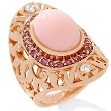 Dallas Prince Designs Pink Opal and Gemstone Rose Vermeil Ring $ 209.90 sz 6