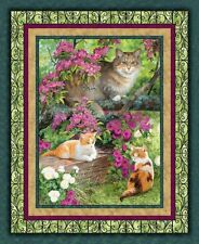Simple Pleasures Cats Panel Quilting Cotton Fabric - Springs Creative