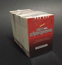 2013 Select AFL Champions Football Cards - Set Of 220 Common Cards