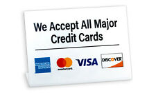 We Accept All Major Credit Cards, L Style Signs, 10 Pack, Free Shipping