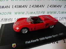 Voiture 1/43 Hachette ABARTH collection : FIAT 1000 spider sport 1963