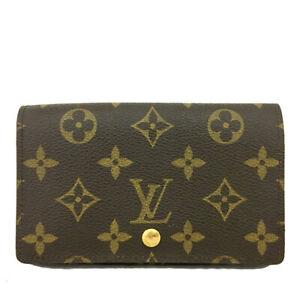 Louis Vuitton Monogram Porte Monnaie Billets Tresor Bifold Wallet /B2492