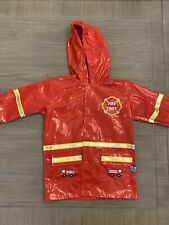 Rain Coat Hooded Puddle Play Child Red Size 4-5