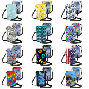Fashion Touch Screen Cell Phone Purse Smartphone Wallet Leather Shoulder Straps