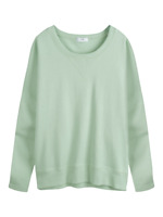 Hush Dolman Sloppy Joe Thin Sweatshirt Medium Sea Green Long Sleeve Boxy BNWT