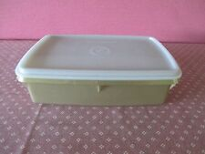 VINTAGE 3 PIECE TUPPERWARE STOW 'N GO SEWING KIT CASH TACKLE BOX CRAFTS GOLD EUC