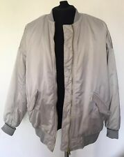 Womens Ladies H&M Divided Grey Satin Bomber Jacket Size 12 Excellent Condition