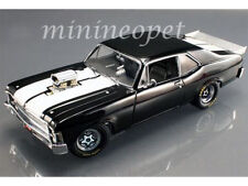 GMP 18808 DRAG SERIES 1320 KINGS 1970 70 CHEVROLET NOVA 1/18 DIECAST BLACK WHITE