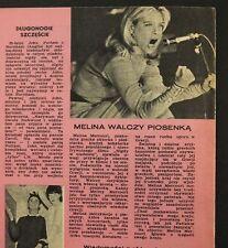 Melina Mercouri,Dolce Trio,Caroline de Monaco  old polish mag. 21/1968