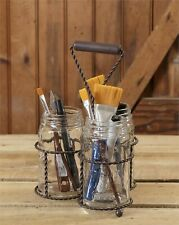 Country Mason jar caddy - 3 jars