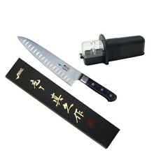 Mac Knife Professional MTH-80 Hollow Edge Chef Knife & SR-2 Rollsharp Sharpener
