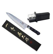 Mac Knife Professional MTH-80 Hollow Edge Chef Knife & SR-2 Rollsharp Sharpener