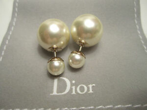 DIOR *New* 2020 TRIBAL Earrings PEARL - GUARANTEED AUTHENTIC