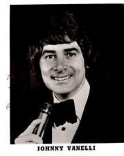 """Johnny Vanelli"" Date Unknown Press Photo"