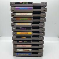 NES Nintendo Games Lot of 12. Tested and working. Batteries not replaced. *READ*