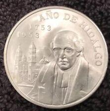 Mexico 5 Pesos Silver 1753~1953 Ano De Hidalgo 8pcs sold individually.