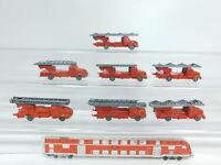 AW462-0,5# 7x Wiking H0/1:87 Bastler-Modelle Magirus/MB/Feuerwehr 620 unverglast