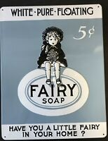 "Embossed Fairy Soap Vintage Style Advertisement Metal Sign Ande Rooney 14"" x 11"""