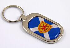Scotland Flag Key Chain metal chrome plated keychain key fob keyfob Scottish