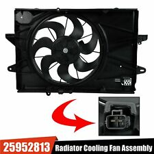 Radiator Cooling Fan Assembly Fit 2010-17 Chevrolet Equinox Gmc Terrain 25952813