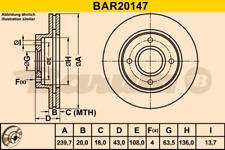 2x Bremsscheibe BARUM BAR20147 vorne für FORD MAZDA