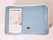 Lacoste Queen Sheet Set 4-Piece 100% Cotton Percale Solid Ross Allure Blue NEW