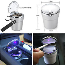 Portable LED Car Truck Cigarette Ash Ashtray Smokeless Stand Cylinder Cup Holder