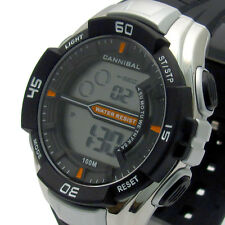 CANNIBAL Men's Digital Watch Chrono Timer LIGHT WATER resistere cd239-01