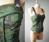 Camouflage Camo Steampunk Military Army Punk Bustier Corset Overbust 140 mv Top