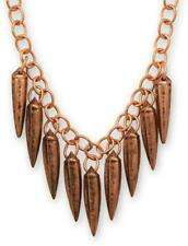 """18"""" + 2"""" Copper Spikes Necklace"""