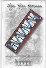 TOPSY TURVY SNOWMAN Runner+ embellishment kit by Happy Hollow Designs +