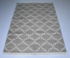 Geometric Handmade Cotton Area Rug Modern Kilim Carpet Bedroom 4x6 Feet DN-1528
