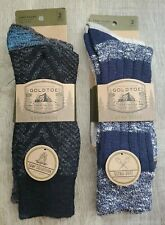 Gold Toe Camp Socks Ultra Soft Warm Midweight Blue Gray 4 Pairs Size 6-12 New