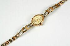 Damenuhr Weiß- Rotgold 585, massives Armband, 18 cm, Gewicht 26,2 Gramm