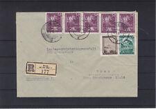Reco Bedarfsbrief gelaufen 1947 Bruck/Mur - Graz Mehrfachfrankatur