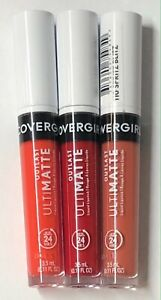 3 Pack, Covergirl Outlast Ultimatte Liquid Lipstick, 125, 130, & 110