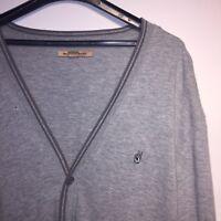 John Varvatos Jumper Men's Grey Cardigan Size XL Sweater