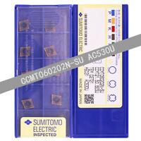 SUMITOMO CCMT060202N-SU AC530U/CCMT21.50.5ESU AC530U  CNC carbide inserts 10pcs