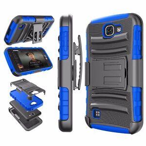 BLUE & BLACK Hybrid 3 in1 TPU Case For LG Optimus Zone 3 K4 Spree VS425/K3 LS450