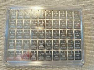 Silber Tafelbarren ESG CombiBar 50 x 1g 999 FeinSilber 50g - Echtheitszertifikat